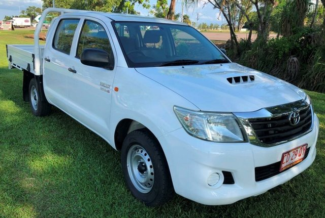 Used Toyota Hilux KUN16R MY12 SR Double Cab 4x2, 2011 Toyota Hilux KUN16R MY12 SR Double Cab 4x2 White 5 Speed Manual Utility
