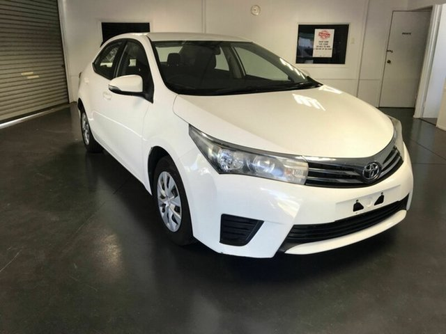 Used Toyota Corolla ZRE172R Ascent, 2015 Toyota Corolla ZRE172R Ascent White 7 Speed CVT Auto Sequential Sedan