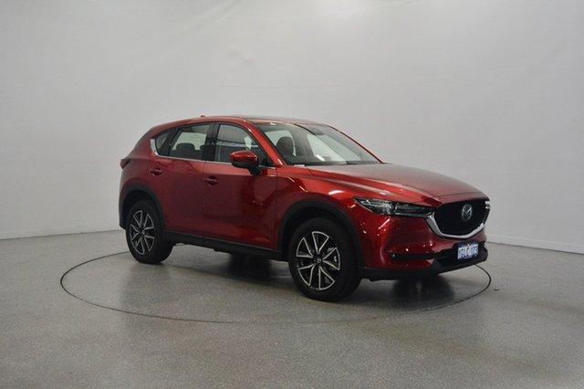 Used Mazda CX-5 KF4WLA Akera SKYACTIV-Drive i-ACTIV AWD, 2017 Mazda CX-5 KF4WLA Akera SKYACTIV-Drive i-ACTIV AWD Red 6 Speed Sports Automatic Wagon