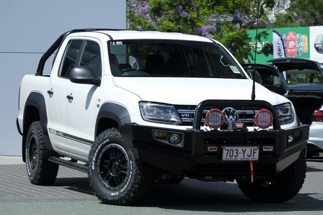Demo Volkswagen Amarok 2H MY18 TDI550 4MOTION Perm Dark Label, 2018 Volkswagen Amarok 2H MY18 TDI550 4MOTION Perm Dark Label Candy White 8 Speed Automatic Utility