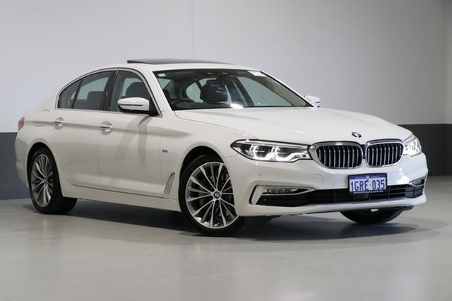 Used BMW 530i G30 MY18 Luxury Line, 2017 BMW 530i G30 MY18 Luxury Line White 8 Speed Automatic Sedan
