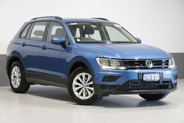 Used Volkswagen Tiguan 5NA 110 TSI Trendline, 2017 Volkswagen Tiguan 5NA 110 TSI Trendline Blue 6 Speed Direct Shift Wagon