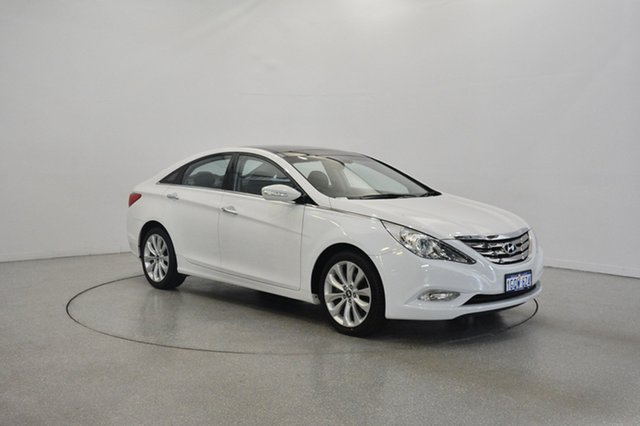 Used Hyundai i45 YF MY11 Premium, 2012 Hyundai i45 YF MY11 Premium Noble White 6 Speed Sports Automatic Sedan