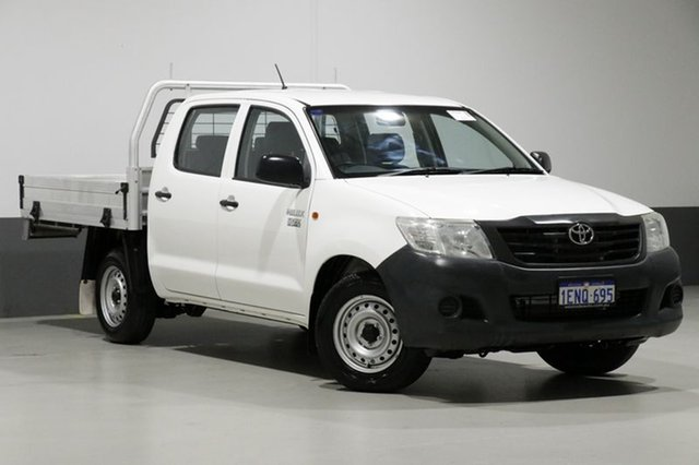 Used Toyota Hilux TGN16R MY14 Workmate, 2014 Toyota Hilux TGN16R MY14 Workmate White 4 Speed Automatic Dual Cab Pick-up