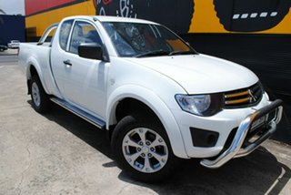 2013 Mitsubishi Triton MN MY13 GLX Club Cab Pure White 5 Speed Manual Utility.