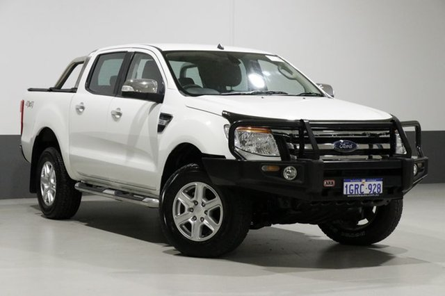 Used Ford Ranger PX XLT 3.2 (4x4), 2014 Ford Ranger PX XLT 3.2 (4x4) White 6 Speed Manual Dual Cab Utility