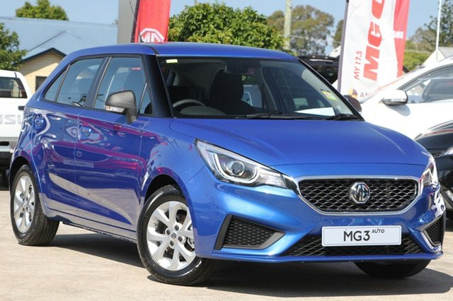 New MG MG3 SZP1 MY18 Core, 2018 MG MG3 SZP1 MY18 Core Thames Blue 4 Speed Automatic Hatchback