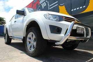 2013 Mitsubishi Triton MN MY13 GLX Club Cab Pure White 5 Speed Manual Utility