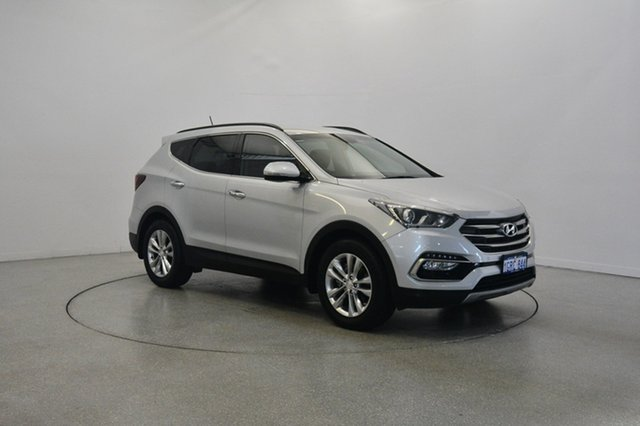 Used Hyundai Santa Fe DM3 MY17 Elite, 2016 Hyundai Santa Fe DM3 MY17 Elite Sleek Silver 6 Speed Sports Automatic Wagon