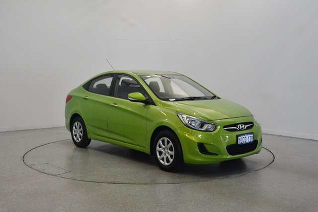 Used Hyundai Accent RB Active, 2012 Hyundai Accent RB Active Green 4 Speed Sports Automatic Sedan