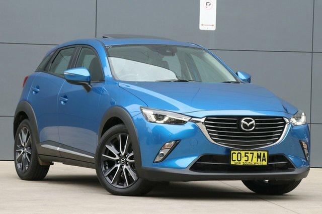Used Mazda CX-3 DK2W7A Akari SKYACTIV-Drive, 2017 Mazda CX-3 DK2W7A Akari SKYACTIV-Drive Dynamic Blue 6 Speed Sports Automatic Wagon