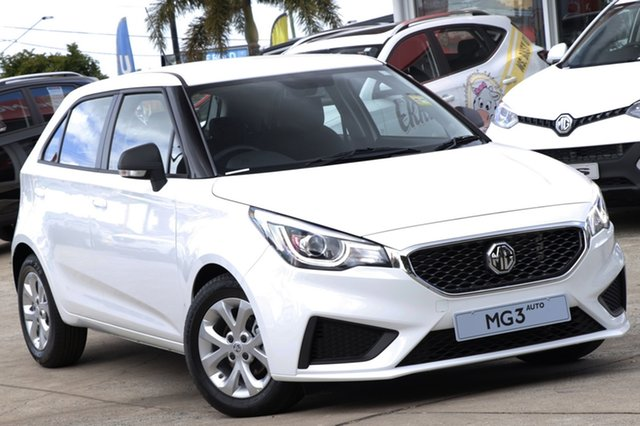 New MG MG3 SZP1 MY18 Core, 2018 MG MG3 SZP1 MY18 Core Dover White 4 Speed Automatic Hatchback
