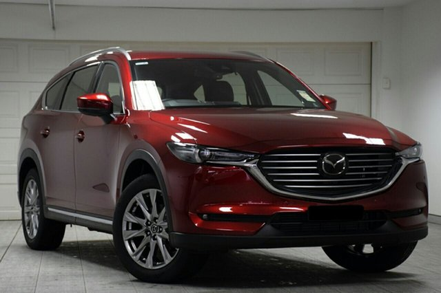 New Mazda CX-8 KG4W2A Asaki SKYACTIV-Drive i-ACTIV AWD, 2019 Mazda CX-8 KG4W2A Asaki SKYACTIV-Drive i-ACTIV AWD Soul Red Crystal 6 Speed Sports Automatic