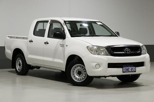 Used Toyota Hilux GGN15R MY11 Upgrade SR, 2010 Toyota Hilux GGN15R MY11 Upgrade SR White 5 Speed Automatic Dual Cab Pick-up
