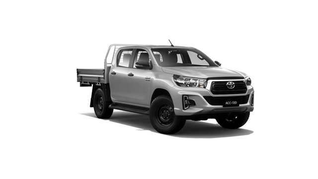 New Toyota Hilux GUN126R SR Double Cab, 2019 Toyota Hilux GUN126R SR Double Cab Silver Sky 6 Speed Sports Automatic Cab Chassis