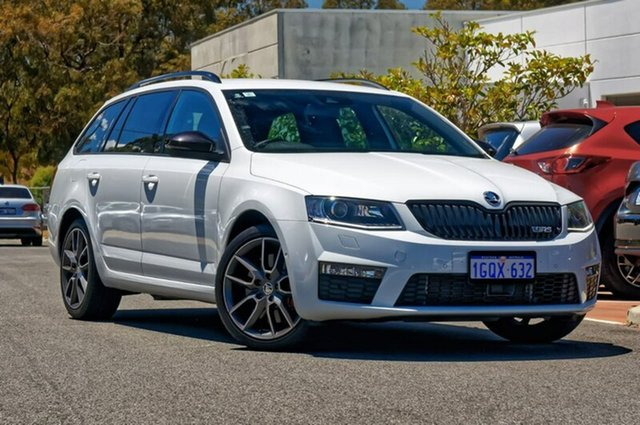 Used Skoda Octavia NE MY16 RS DSG 162TSI, 2016 Skoda Octavia NE MY16 RS DSG 162TSI White 6 Speed Sports Automatic Dual Clutch Wagon