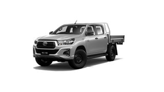 2019 Toyota Hilux GUN126R SR Double Cab Silver Sky 6 Speed Sports Automatic Cab Chassis