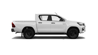 2020 Toyota Hilux GUN126R SR Double Cab Glacier White 6 Speed Sports Automatic Utility.
