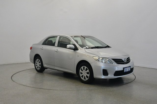 Used Toyota Corolla ZRE152R MY11 Ascent, 2012 Toyota Corolla ZRE152R MY11 Ascent Silver 4 Speed Automatic Sedan