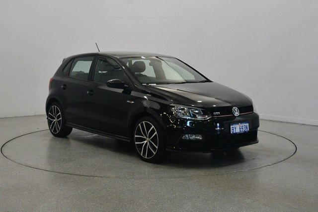 Used Volkswagen Polo 6R MY17 GTI DSG, 2016 Volkswagen Polo 6R MY17 GTI DSG Black 7 Speed Sports Automatic Dual Clutch Hatchback