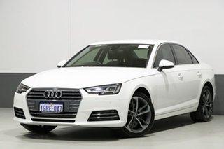 2017 Audi A4 F4 MY17 (B9) 2.0 TFSI S Tronic Sport Ibis White 7 Speed Auto Dual Clutch Sedan.