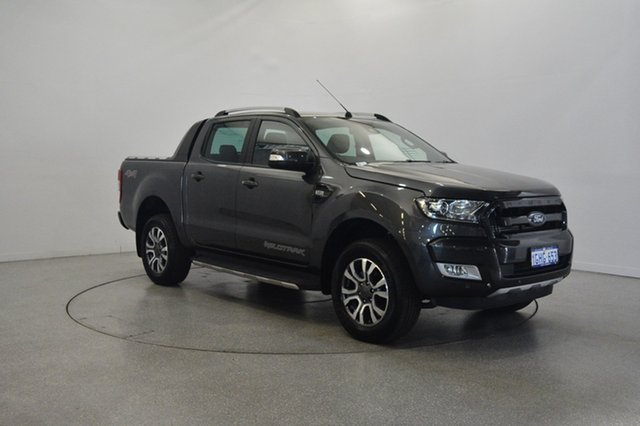 Used Ford Ranger PX MkII Wildtrak Double Cab, 2017 Ford Ranger PX MkII Wildtrak Double Cab Grey 6 Speed Manual Utility