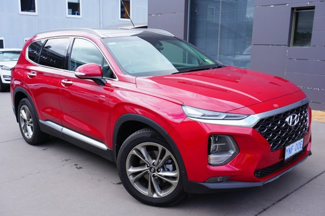 Demo Hyundai Santa Fe TM MY19 Highlander, 2018 Hyundai Santa Fe TM MY19 Highlander Horizon Red 8 Speed Sports Automatic Wagon
