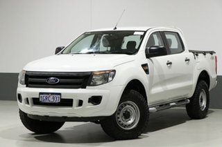 2014 Ford Ranger PX XL 3.2 (4x4) White 6 Speed Manual Dual Cab Utility.