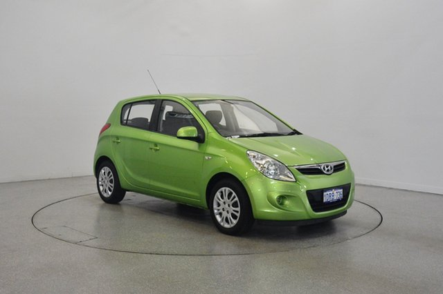 Used Hyundai i20 PB MY11 Active, 2011 Hyundai i20 PB MY11 Active Green 5 Speed Manual Hatchback