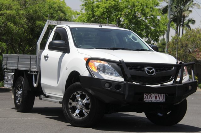Used Mazda BT-50 UP0YF1 XT, 2014 Mazda BT-50 UP0YF1 XT White 6 Speed Sports Automatic Cab Chassis