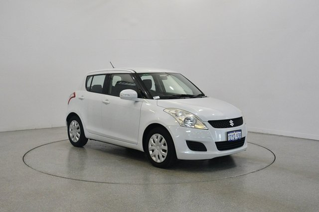 Used Suzuki Swift FZ GL, 2012 Suzuki Swift FZ GL Pearl White 4 Speed Automatic Hatchback