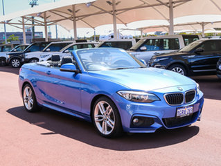 2015 BMW 220i F23 M Sport Blue 8 Speed Automatic Convertible.