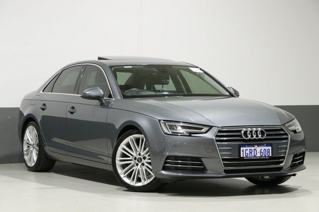 Used Audi A4 F4 MY17 (B9) 2.0 Tfsi S Tronic Sport, 2017 Audi A4 F4 MY17 (B9) 2.0 Tfsi S Tronic Sport Monsoon Grey 7 Speed Auto Dual Clutch Sedan