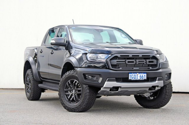 Demo Ford Ranger  Raptor Pick-up Double Cab, 2018 Ford Ranger PX MKIII 2019.0 Raptor Pick-up Double Cab Shadow Black 10 Speed Sports Automatic