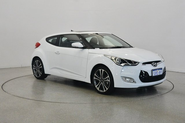 Used Hyundai Veloster FS5 Series II Coupe, 2017 Hyundai Veloster FS5 Series II Coupe Crystal White 6 Speed Manual Hatchback