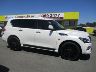 2015 Infiniti QX80 Z62 S Premium White 7 Speed Sports Automatic Wagon.