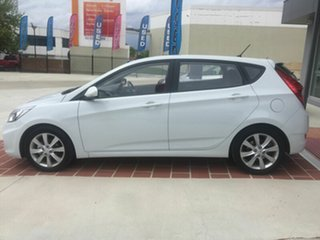 2017 Hyundai Accent RB6 MY18 Sport White 6 Speed Sports Automatic Hatchback.