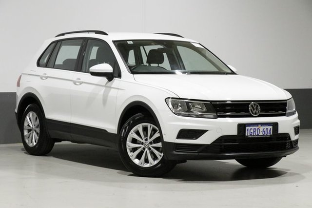 Used Volkswagen Tiguan 5NA 110 TSI Trendline, 2017 Volkswagen Tiguan 5NA 110 TSI Trendline Pure White 6 Speed Direct Shift Wagon