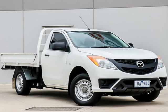 Used Mazda BT-50 UP0YD1 XT 4x2, 2011 Mazda BT-50 UP0YD1 XT 4x2 White 6 Speed Manual Cab Chassis