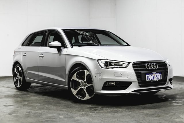 Used Audi A3 8V Ambition Sportback S tronic quattro, 2014 Audi A3 8V Ambition Sportback S tronic quattro Silver 6 Speed Sports Automatic Dual Clutch