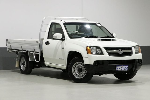 Used Holden Colorado RC MY11 LX (4x2), 2011 Holden Colorado RC MY11 LX (4x2) White 5 Speed Manual Cab Chassis