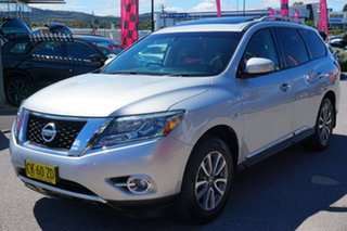 2013 Nissan Pathfinder R52 MY14 ST-L X-tronic 4WD Brilliant Silver 1 Speed Constant Variable Wagon.