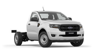 2018 Ford Ranger PX MkIII 2019.00MY XL 4x2 Cool White 6 Speed Manual Cab Chassis.