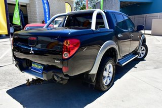 2008 Mitsubishi Triton ML MY09 GLX-R Double Cab Black 4 Speed Automatic Utility