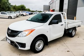 2011 Mazda BT-50 UP0YD1 XT 4x2 White 6 Speed Manual Cab Chassis.