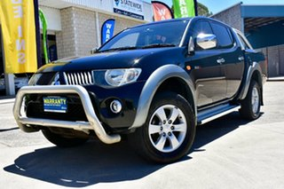2008 Mitsubishi Triton ML MY09 GLX-R Double Cab Black 4 Speed Automatic Utility.