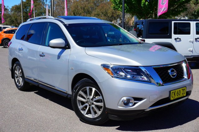 Used Nissan Pathfinder R52 MY14 ST-L X-tronic 4WD, 2013 Nissan Pathfinder R52 MY14 ST-L X-tronic 4WD Brilliant Silver 1 Speed Constant Variable Wagon