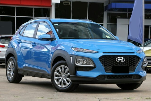 New Hyundai Kona OS.2 MY19 Go D-CT AWD, 2018 Hyundai Kona OS.2 MY19 Go D-CT AWD Blue Lagoon 7 Speed Sports Automatic Dual Clutch Wagon