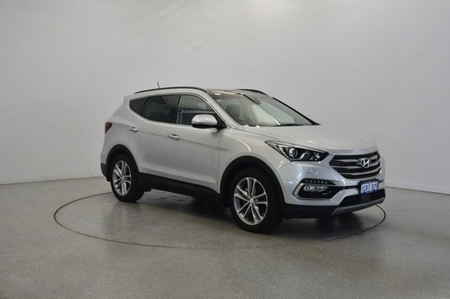 Used Hyundai Santa Fe DM5 MY18 Highlander, 2018 Hyundai Santa Fe DM5 MY18 Highlander Platinum Silver 6 Speed Sports Automatic Wagon