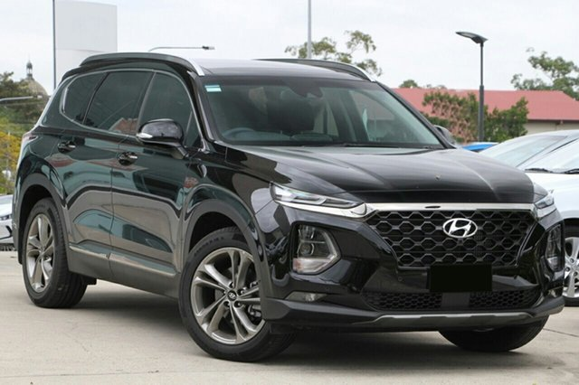 New Hyundai Santa Fe TM MY19 Highlander, 2018 Hyundai Santa Fe TM MY19 Highlander Phantom Black 8 Speed Sports Automatic Wagon